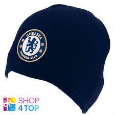 CHELSEA FC FOOTBALL SOCCER CLUB TEAM KNITTED DARK BLUE CAP BEANIE HAT LICENSED