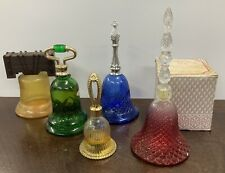 Lot of 5 Avon Perfume Bells , liberty bell Included, 1970's Collection