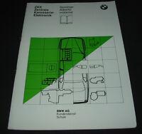 Schulungsunterlage BMW 7er E32 Zentrale Karosserie Elektronik Stand März 1986!