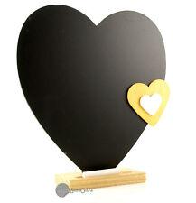 Rustic Shabby Chic Heart Shape Wood Framed Chalkboard / Blackboard ST7110