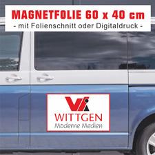 2 Magnetfolien, 60 x 40 cm, mit Folienplott / Digitaldruck für Autotüren etc.