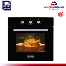 """GASLAND Chef ES605MB 24"""" Built-in Black Glass Electric Single Wall Oven 240v"""