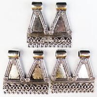 1Pcs Newest Carved Tibetan silver Pendant Bead 45x45x8mm