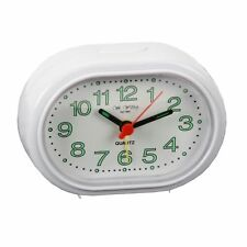 Wm.Widdop Alarm Clock    - Oval White Compact Beep Function White 5155W