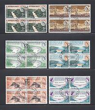 RHODESIA & NYASALAND 1960 SG 32/7 USED Blocks of 4 Cat £100