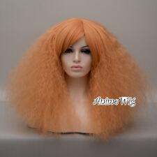 Fluffy Lolita 45cm Medium Curly Lady Gaga Style Halloween Anime Cosplay Wig+Cap