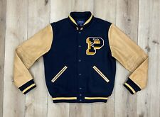 Polo Ralph Lauren Wool Blend Leather Varsity Letterman Jacket Big P MSRP $600 XL