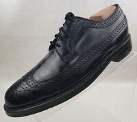 Florsheim Imperial Jefferson Oxford Wingtip Mens Black Leather Lace Up Shoes 8D