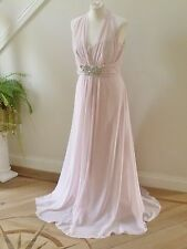 BNWT Designer No.1 Jenny Packham Pale Pink Chiffon Maxi Dress size 14-RRP£150