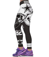 3D Women Fitness Leggings Team Dallas Cowboys Sport Yoga Pants Gym Training Run