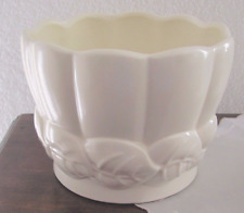 Vintage  RED WING IVORY POTTERY FLOWER POT.