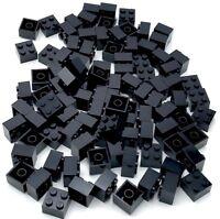 Lego 100 New 2 x 2 Dot Stud Black Building Blocks Pieces Parts