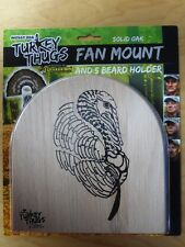New Quaker Boy Turkey Thugs Fan Tail Beard Mount Kit Solid Oak 99801