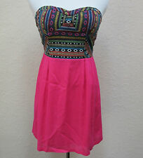 Urban Outfitters Staring at Stars Size 4 Strapless Tribal Aztec Print Boho Dress