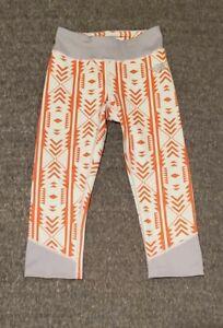 Womens The North Face Capri Legging Size XS Flash Dry Gray Orange Athletic Yoga