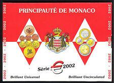 MONACO coffret BU 2002, contenant la série de 8 pièces 2002