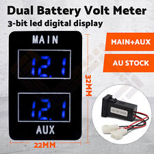 Dual Battery Volt Meter for Toyota Prado 150, Landcruiser 200, 2016 Hilux BLUE