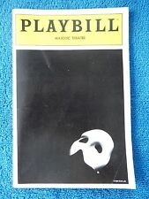 The Phantom Of The Opera - Majestic Playbill w/Ticket - February 9th, 1991