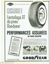 PUBLICITE ADVERTISING 056  1962  les pneus Goodyear entoilage 3T