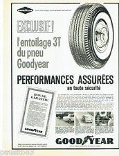 PUBLICITE ADVERTISING 056  1962  les pneus Goodyear entoilage 3T