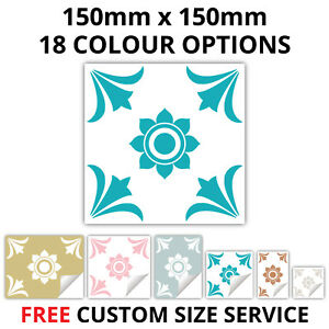 Traditional Tile Stickers Transfer Kitchen Bathroom 150mm x 150mm 18 Colours T19
