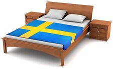"Fuzzy Flags™ Swedish Flag Fleece Blanket 80"" x 50"" Oversized Sweden Throw Cover"