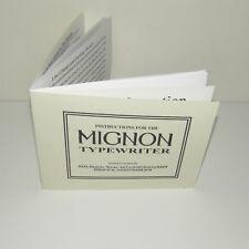 Mignon AEG Typewriter ENGLISH Instruction Manual Reproduction