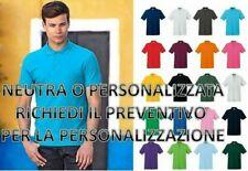 Polo Uomo In Cotone Manica Corta Premium Fruit Of The Loom personalizzabile
