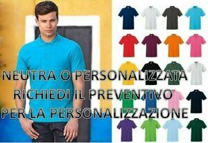 Polo Uomo In Cotone Manica Corta Premium Fruit Of The Loom Maglietta Da S A XXL