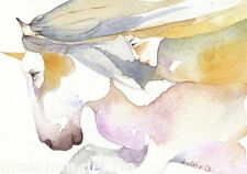 GREETING CARD spiritual art watercolor spirit totem 'Spirit of the Unicorn'