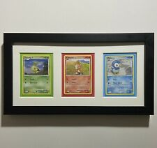 Framed Diamond & Pearl Starter Pokemon Card Display: Turtwig Piplup Chimchar 4/8