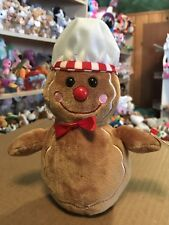 Ty Goody -Brown Holiday Gingerbread Man Beanie Baby! *Retired Exclusive* Vhtf!