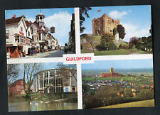 C1980s Multiviews of Guildford: Cathedral: Castle: Town Street