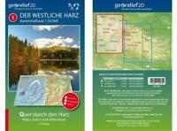 Wanderkarte Der Westliche Harz 1:50.000, Georelief Dresden