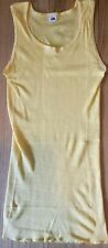NOS Vintage 80s Fruit of the Loom stretch tank top L yellow muscle tee new tight