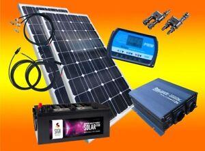 200W Solarset 12V Inselanlage Wohnmobil 20A Laderegler Solarpanel Set Neu