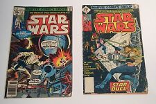 (2) Vintage Star Wars Marvel Comics Group #5 Nov 1977 w/ UPC & #15 Sept w/o UPC