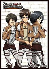 Attack on Titan 50 TCG Card Sleeves *Erin Levi Mikasa* ~Anime Shingeki no Kyojin