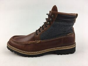 Wolverine 1883 Ricardo Moc Toe Boots Men's Size 11, Brown Leather/Gray Wool 3272
