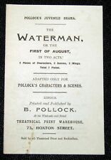 Toy Theatre - Original Playbook - Pollock's THE WATERMAN