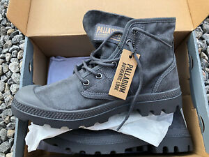 Palladium Pallabrouse Wax In French MetaL Lace Up Boot Size UK 6