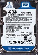 """Western Digital WD3200BPVT-80ZEST0  s/n: WX51.. dcm:HHMTJHB SATA 320GB  2""""5 4822"""