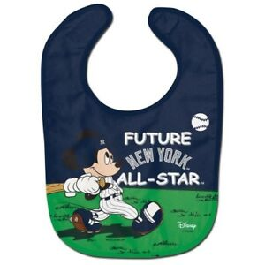 NEW YORK YANKEES MICKEY MOUSE BABY BIB DISNEY MLB OFFICIALLY LICENSED