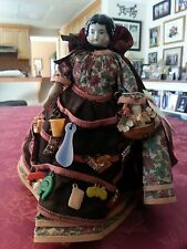 Antique Doll from 1898 with original dress under peddlers outfit