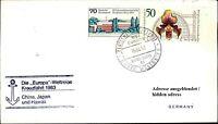 Dt. Schiffspost MS EUROPA China Japan Hawaii Kreuzfahrt 1983 Schiff Shipletter