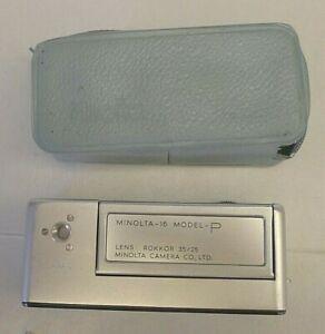 Minolta 16 Model P Subminiature Camera +Original Minolta Case