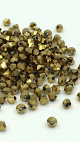 100pcs GOLD Metallic 4mm Bicone Crystals Spacers Findings DIY Craft Jewellery