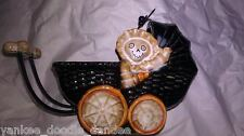 YANKEE CANDLE BONEY BUNCH BABY CARRIAGE TEA LIGHT HOLDER