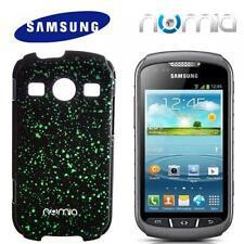numia 3D Handy Cover Case Samsung S7710 Galaxy Xcover 2 Schwarz-Grün Schutzhülle