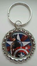 """CAPTAIN AMERICA'S SHIELD"" Marvel, Key Ring Charm Bottle Cap"